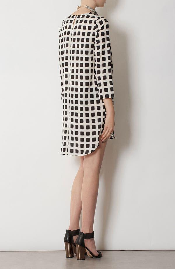 Alternate Image 3  - Topshop Grid Print Shift Dress
