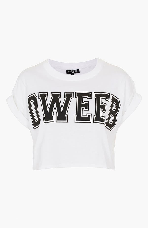 Main Image - Topshop 'Dweeb' Graphic Crop Tee