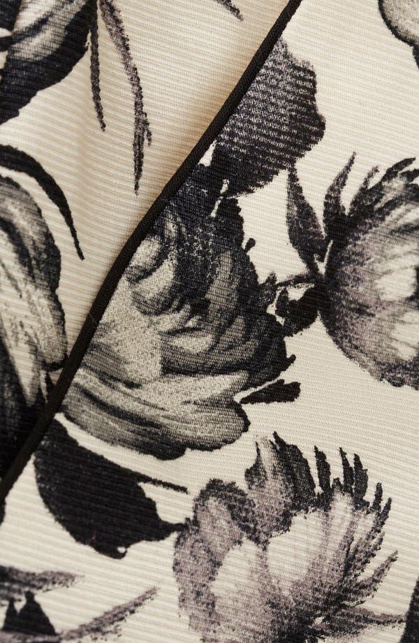 Alternate Image 3  - Topshop 'Mono Floral' Print Shorts