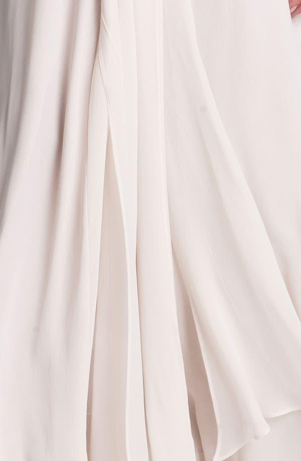 Alternate Image 3  - BCBGMAXAZRIA Front Drape Chiffon Gown