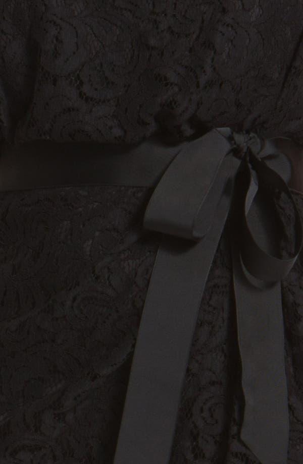 Alternate Image 3  - Tadashi Shoji Cap Sleeve Lace Sheath Dress (Plus)