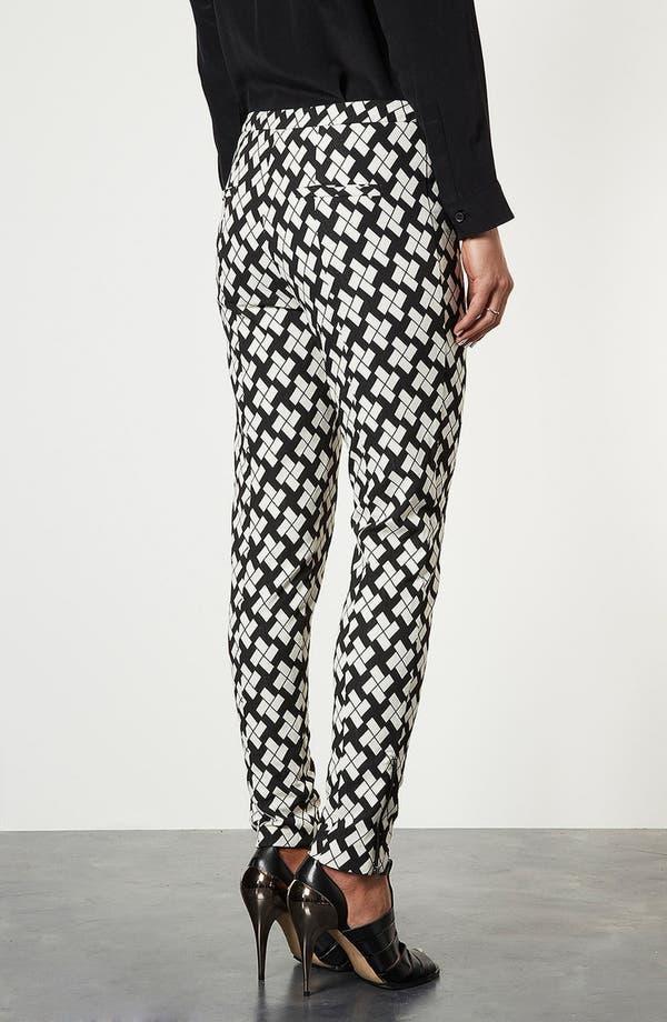 Alternate Image 2  - Topshop Pinwheel Print Tapered Pants