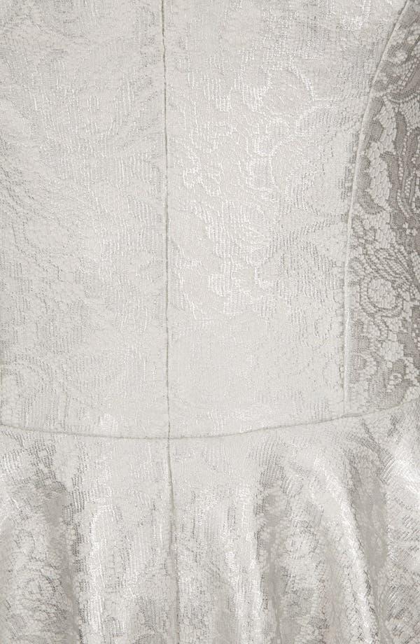 Alternate Image 4  - Topshop Metallic Lace Skater Dress