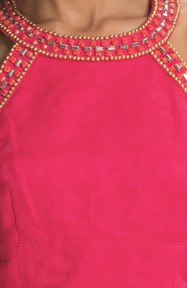 Alternate Image 3  - Laundry by Shelli Segal Embellished Jacquard Sheath Dress