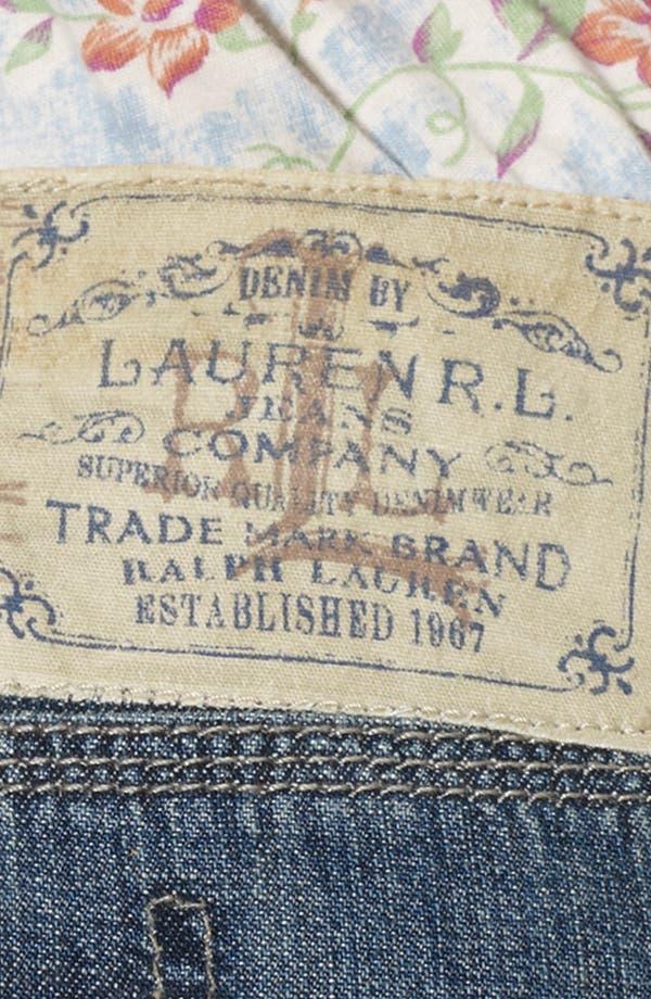 Alternate Image 4  - Lauren Ralph Lauren Straight Denim Skirt (Plus Size)