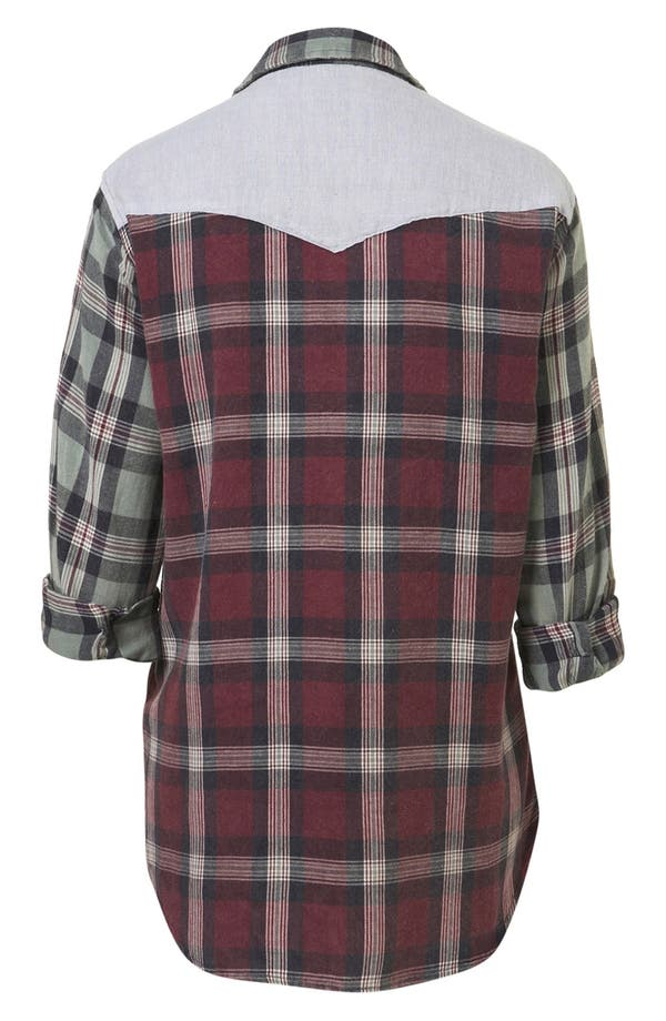 Alternate Image 2  - Topshop Check Shirt