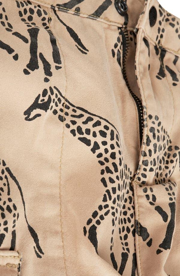 Alternate Image 4  - Topshop Giraffe Print Cargo Shorts