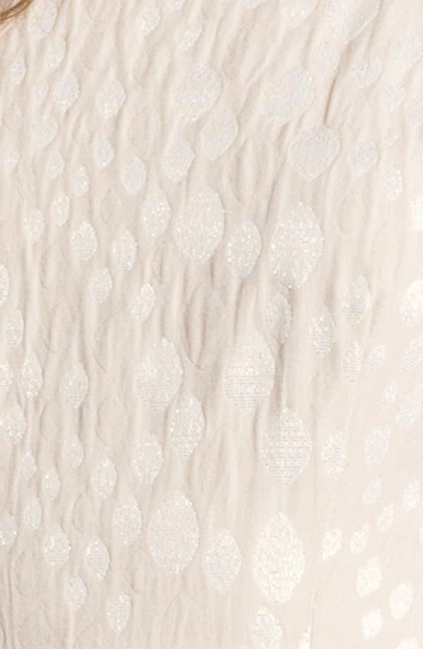 Alternate Image 3  - Taylor Dresses Metallic Jacquard Fit & Flare Dress
