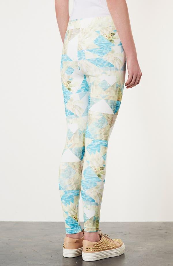 Alternate Image 2  - Topshop Palm Print Leggings