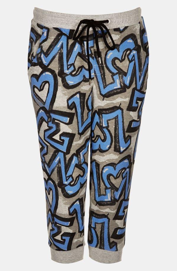 Alternate Image 3  - Topshop 'Graffiti' Crop Jogging Pants