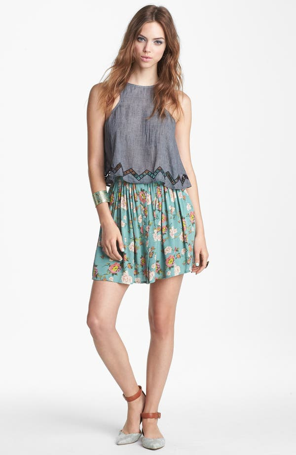 Main Image - MINKPINK 'Notebook' Skater Skirt