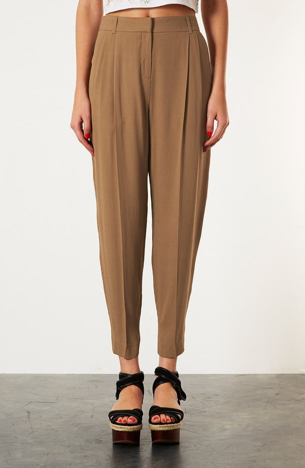 Alternate Image 1 Selected - Topshop 'Mensy' Tapered Trousers