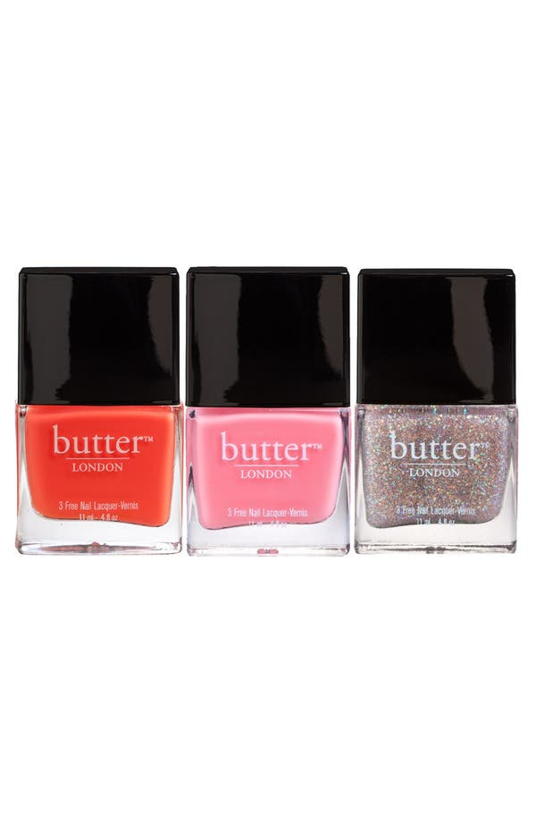 Main Image - butter LONDON 'Coral Crush' Nail Lacquer Trio (Nordstrom Exclusive)