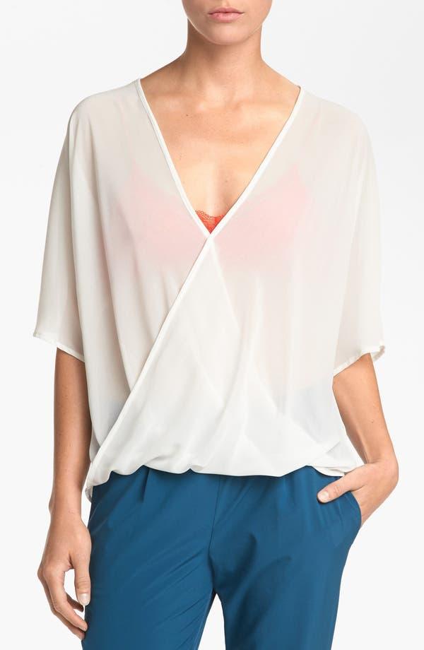 Main Image - WAYF Sheer Dolman Sleeve Wrap Blouse