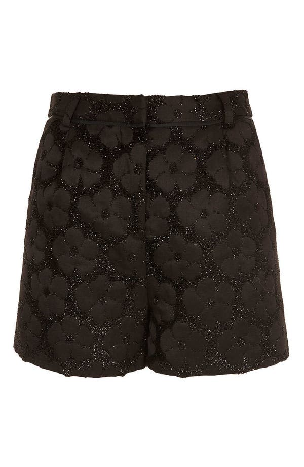 Alternate Image 3  - Topshop Textured Floral Shorts