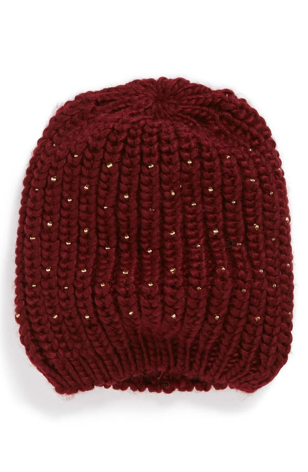 Alternate Image 1 Selected - San Diego Hat Beaded Knit Hat (Girls)