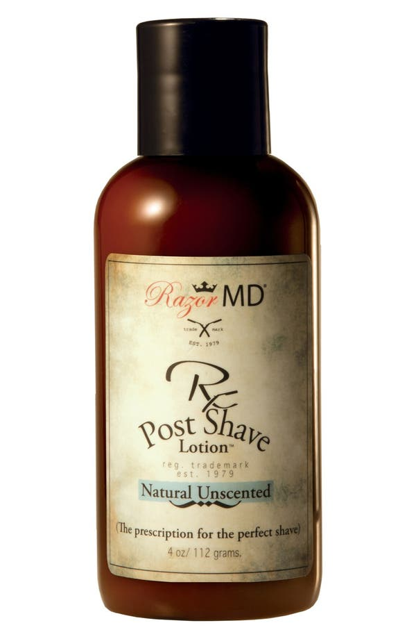 Alternate Image 1 Selected - Razor MD® 'Natural Unscented' Rx Post Shave Lotion™