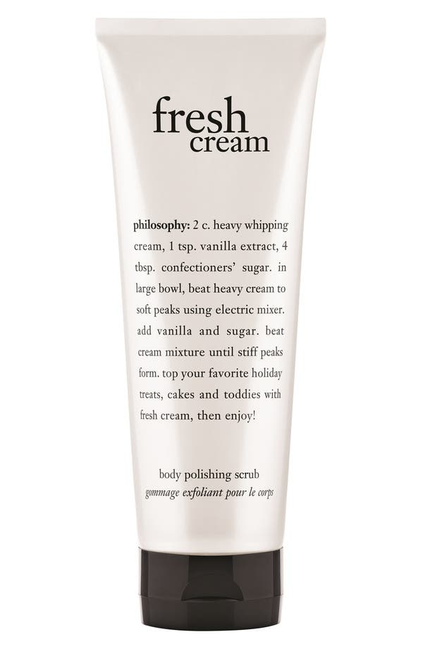 Alternate Image 1 Selected - philosophy 'fresh cream' body polishing scrub