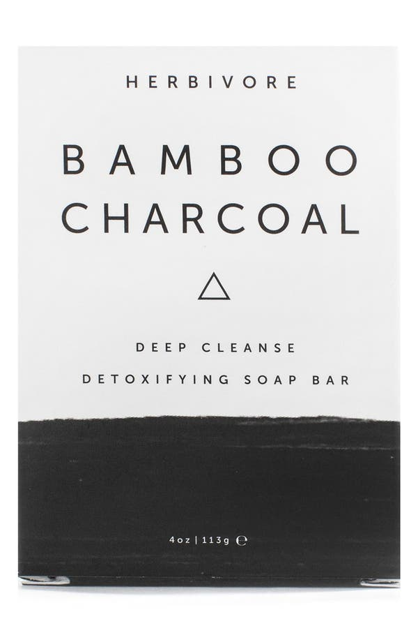 Main Image - Herbivore Botanicals Bamboo Charcoal Cleansing Bar Soap