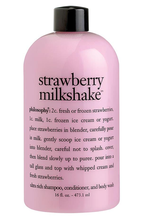 Alternate Image 1 Selected - philosophy 'strawberry milkshake' shampoo, conditioner & body wash