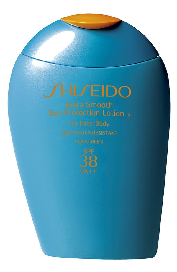Main Image - Shiseido Extra Smooth Sun Protection Lotion for Face & Body SPF 38 PA++