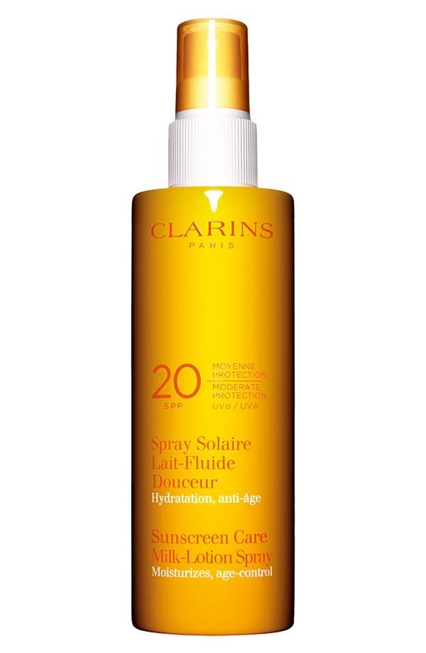 Main Image - Clarins Sunscreen Care Milk-Lotion Spray SPF 20