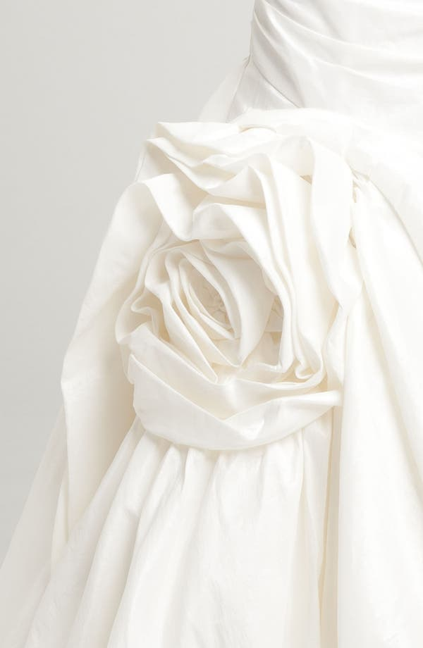 Alternate Image 2  - Faviana Mermaid Skirt Rosette Detail Taffeta Gown