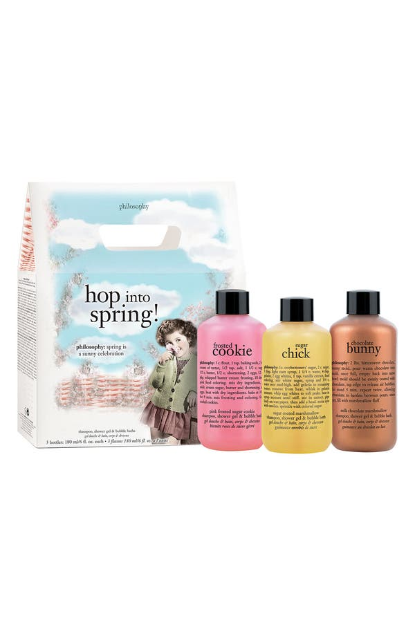 Alternate Image 1 Selected - philosophy 'hop into spring' shampoo , shower gel & bubble bath trio