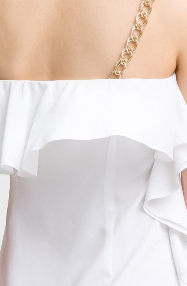 Alternate Image 3  - Calvin Klein Chain Strap Ruffle Cocktail Dress