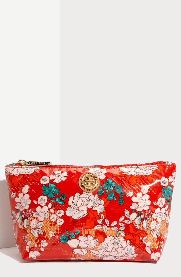 Alternate Image 1 Selected - Tory Burch Coated Poplin Cosmetics Case
