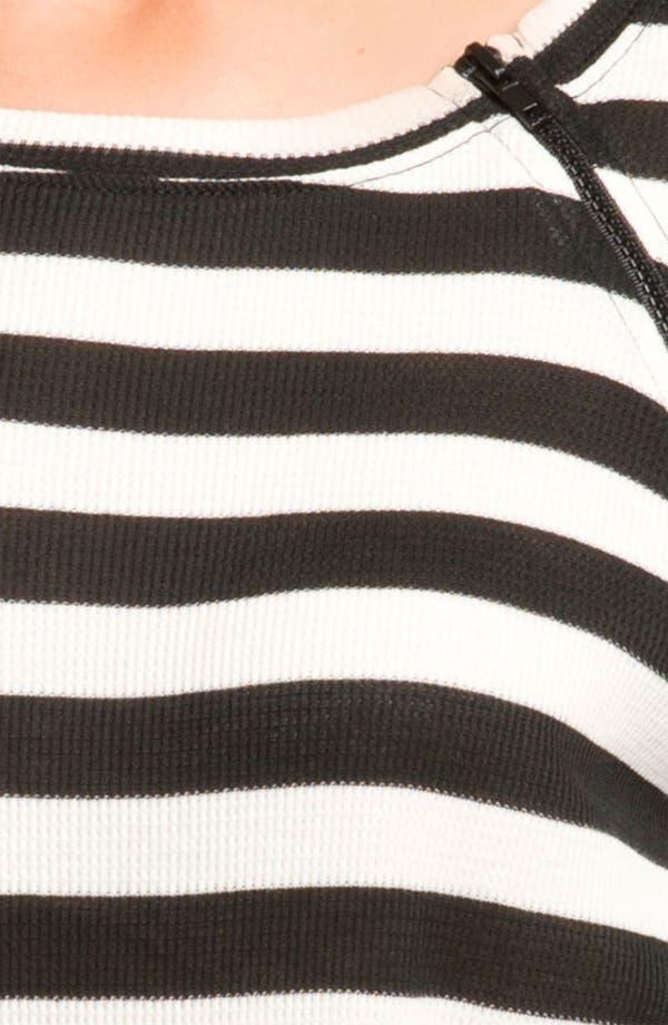 Alternate Image 3  - Pink Lotus Zip Detail Waffle Knit Top
