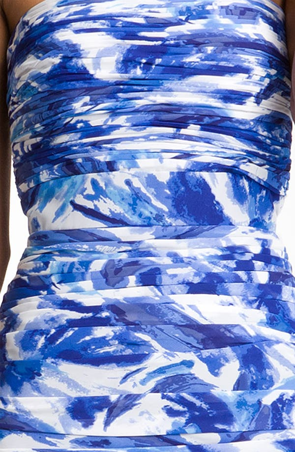 Alternate Image 3  - ML Monique Lhuillier Bridesmaids Ruched Floral Print Chiffon Sheath Dress (Nordstrom Exclusive)