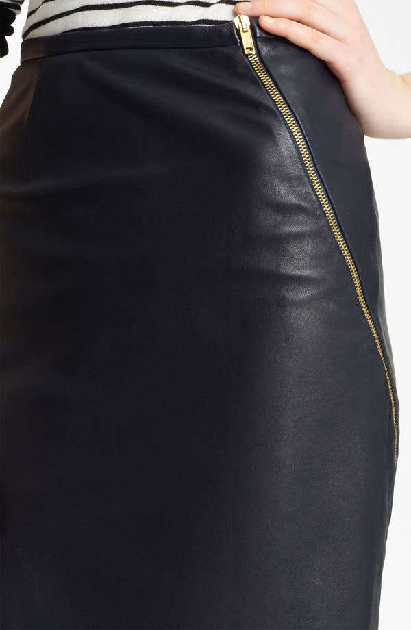 Alternate Image 3  - Band of Outsiders Leather Pencil Skirt