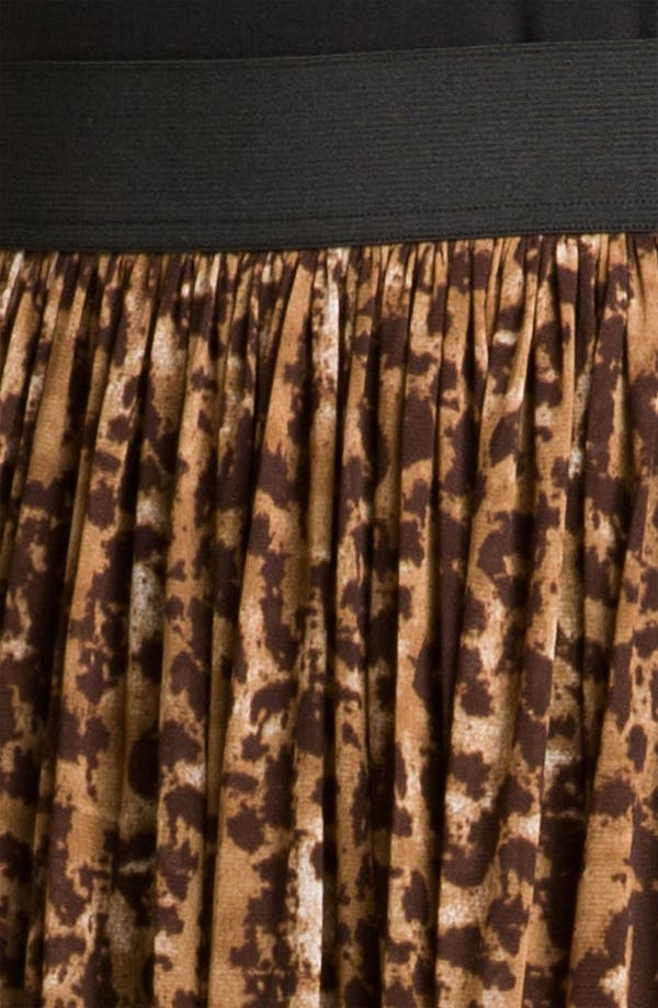 Alternate Image 3  - Vince Camuto 'Textured Spots' Animal Print Skirt (Plus)