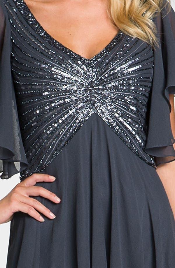 Alternate Image 4  - J Kara V-Neck Sequin Bodice Dress