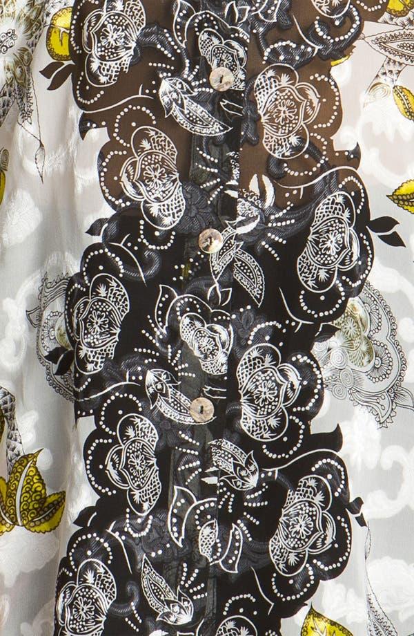 Alternate Image 3  - Citron Print Silk Blend Jacket (Plus)