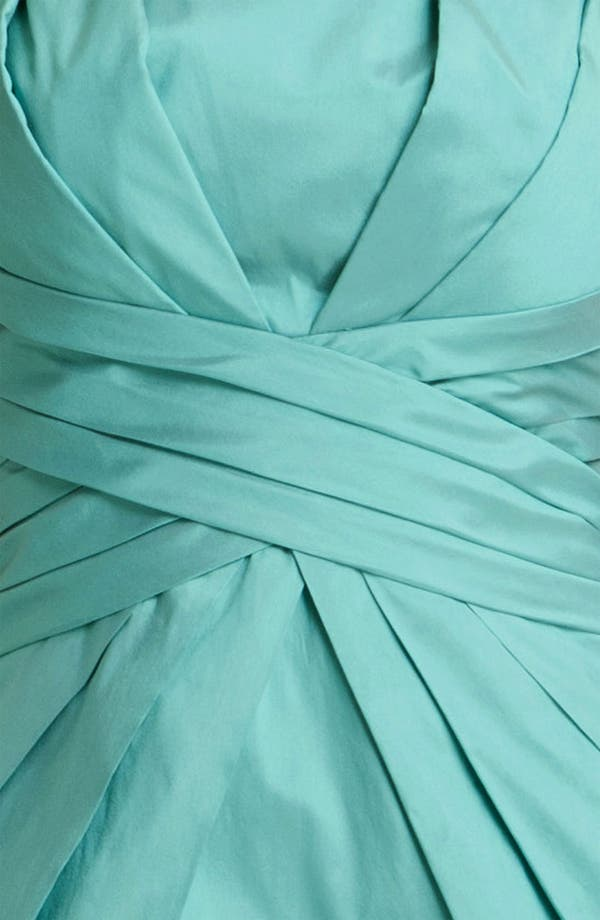Alternate Image 3  - ML Monique Lhuillier Bridesmaids Pleated Strapless Taffeta Dress (Nordstrom Exclusive)
