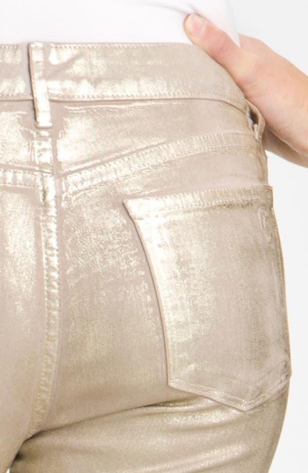 Alternate Image 3  - CJ by Cookie Johnson 'Believe Sparkle' Coated Crop Denim Leggings (Gold Dust)