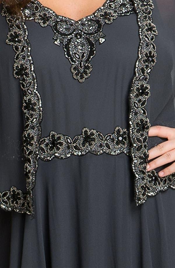 Alternate Image 3  - J Kara Beaded Chiffon Gown & Jacket (Plus Size)