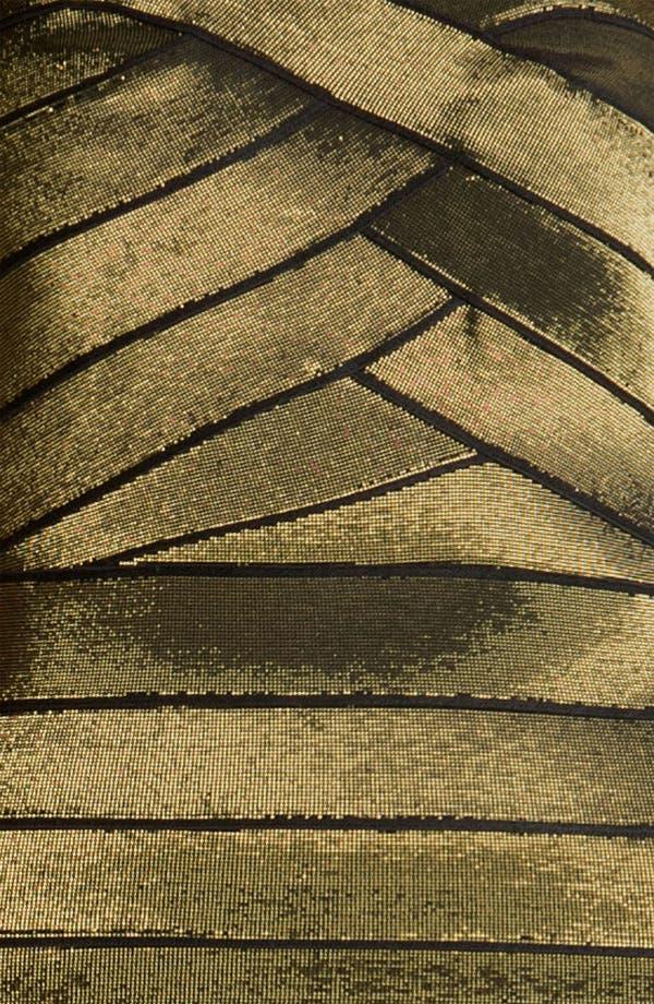 Alternate Image 3  - Allen Schwartz Prive Strapless Metallic Bandage Minidress
