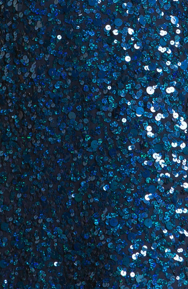 Alternate Image 3  - Sean Collection V-Neck Sequined Silk Dress