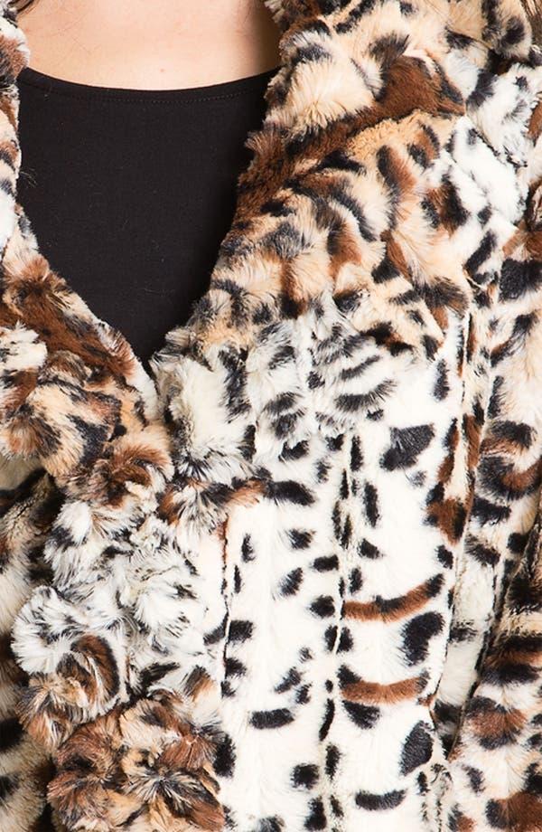 Alternate Image 3  - Damselle Faux Fur Ruffle Coat