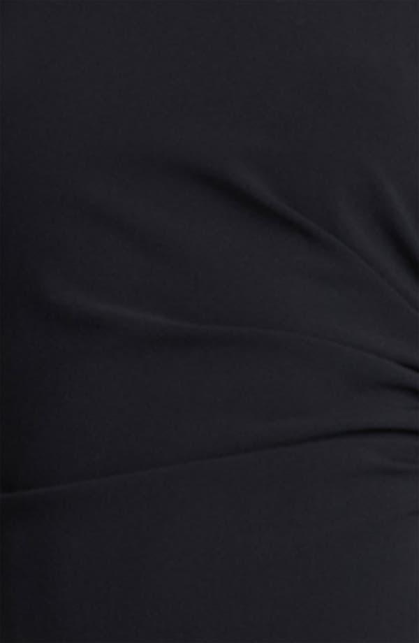 Alternate Image 3  - Armani Collezioni Mock Neck Crepe Dress