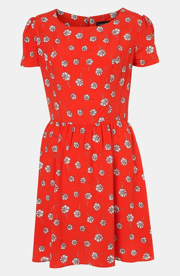 Alternate Image 1 Selected - Topshop Daisy Print Dress