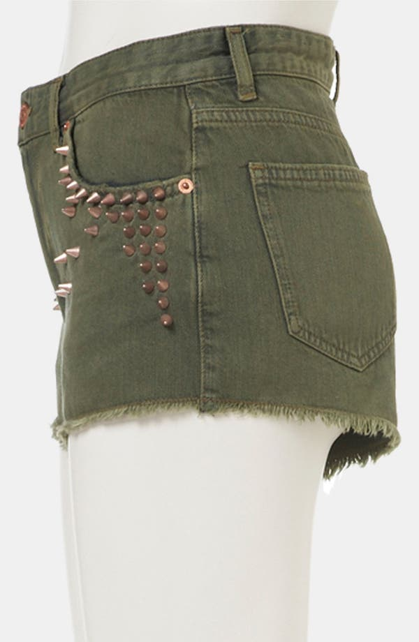 Alternate Image 3  - Topshop Moto Studded Cutoff Denim Shorts
