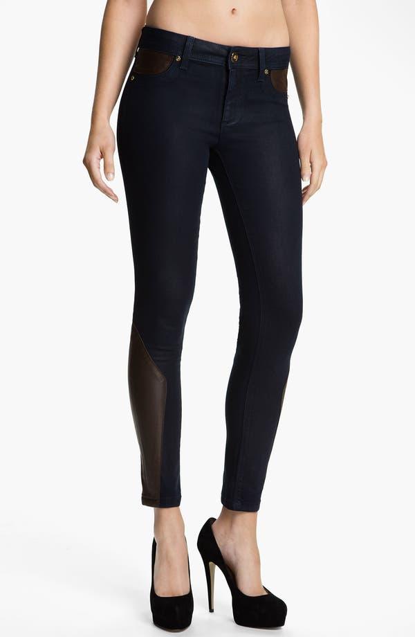 Main Image - DL1961 'Emma' Leather Skinny Jeans (Cocktail)