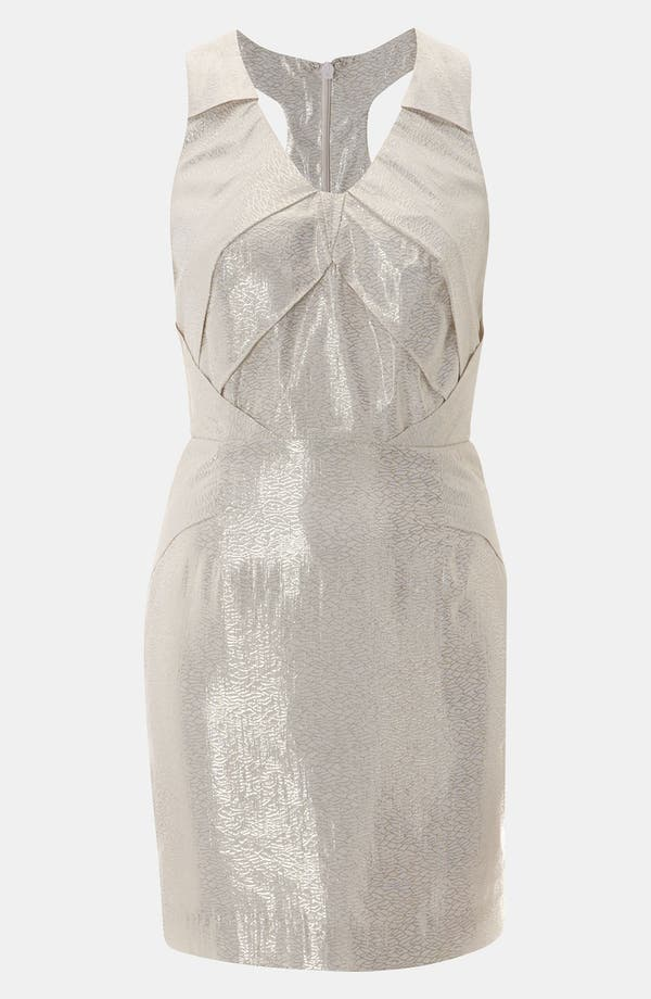 Alternate Image 1 Selected - Topshop Origami Metallic Jacquard Dress