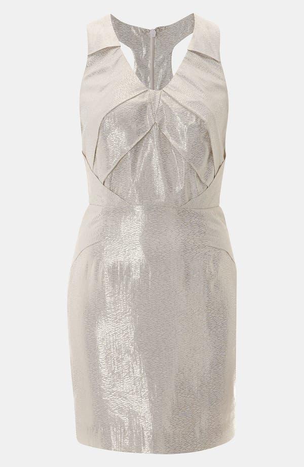 Main Image - Topshop Origami Metallic Jacquard Dress