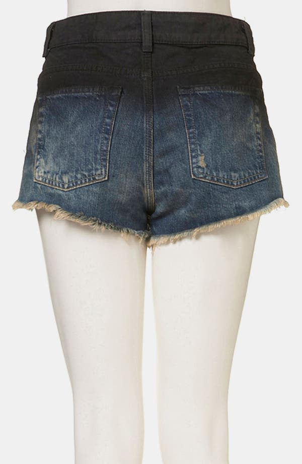 Alternate Image 2  - Topshop Moto 'Ruthie' Die Dyed Denim Shorts