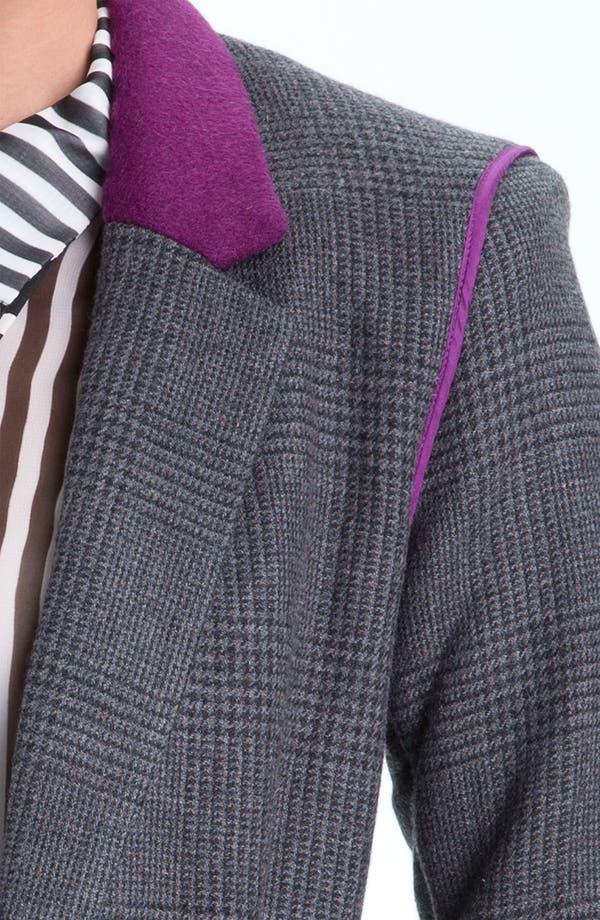 Alternate Image 3  - Juicy Couture Contrast Trim Plaid Blazer